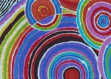 Η ζωηρόχρωμη περίληψη που χρωματίζεται περιβάλλει την απεικόνιση υποβάθρου Στοκ Φωτογραφίες