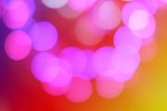 Η ζωηρόχρωμη περίληψη θόλωσε το κυκλικό φως bokeh Στοκ εικόνα με δικαίωμα ελεύθερης χρήσης