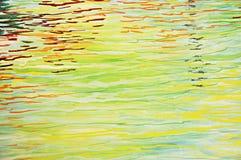 Η ζωηρόχρωμη περίληψη κυμάτισε το νερό Στοκ Εικόνες