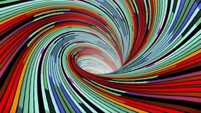 Η ζωηρόχρωμη σπείρα wormhole διοχετεύει σηράγγων πτήσης άνευ ραφής βρόχων ζωτικότητας δροσερό συμπαθητικό ποιοτικού εκλεκτής ποιό απεικόνιση αποθεμάτων