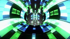 Η ζωηρόχρωμη τεχνολογική διαστρέβλωση δυσλειτουργίας wormhole διοχετεύει το νέο ποιοτικό τρύγο υποβάθρου ζωτικότητας βρόχων πτήση διανυσματική απεικόνιση