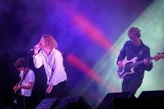 Η ζωντανή μουσική ζωνών Orwells παρουσιάζει στο φεστιβάλ Bime Στοκ Εικόνα