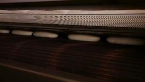 Η ζύμη εισάγει το φούρνο από το μεταφορέα απόθεμα βίντεο