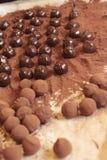 Η ζύμη που κάνει στο γλυκό σοκολάτας είναι εύγευστη Στοκ Εικόνες