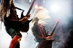 Η ζώνη μουσικής ειδώλων αποδίδει στη συναυλία Download στο φεστιβάλ μουσικής βαρύ μετάλλου Στοκ Φωτογραφίες