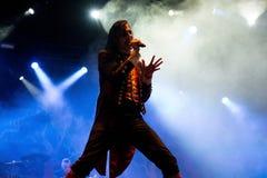 Η ζώνη μουσικής ειδώλων αποδίδει στη συναυλία Download στο φεστιβάλ μουσικής βαρύ μετάλλου Στοκ φωτογραφίες με δικαίωμα ελεύθερης χρήσης