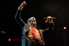 Η ζώνη μουσικής ειδώλων αποδίδει στη συναυλία Download στο φεστιβάλ μουσικής βαρύ μετάλλου στοκ εικόνα