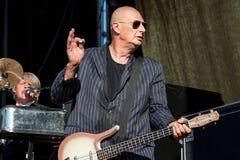 Η ζώνη μουσικής ροκ Triggerfinger αποδίδει στη συναυλία Download στο φεστιβάλ μουσικής βαρύ μετάλλου στοκ φωτογραφίες