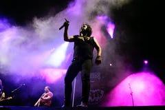 Η ζώνη μουσικής Bravo Porco αποδίδει στη συναυλία Download στο φεστιβάλ μουσικής βαρύ μετάλλου στοκ εικόνα με δικαίωμα ελεύθερης χρήσης