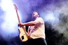 Η ζώνη μουσικής Virgen αποδίδει στη συναυλία Download στο φεστιβάλ μουσικής βαρύ μετάλλου στοκ εικόνα με δικαίωμα ελεύθερης χρήσης