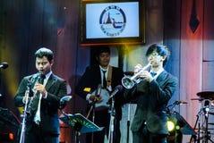Η ζώνη της Jazz Minions αποδίδει στη Jazz στη μνήμη σε Bangsaen Στοκ εικόνες με δικαίωμα ελεύθερης χρήσης