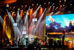 Η ζώνη της Jazz Minions αποδίδει στη Jazz στη μνήμη σε Bangsaen Στοκ φωτογραφία με δικαίωμα ελεύθερης χρήσης