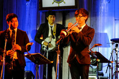 Η ζώνη της Jazz Minions αποδίδει στη Jazz στη μνήμη σε Bangsaen Στοκ εικόνα με δικαίωμα ελεύθερης χρήσης