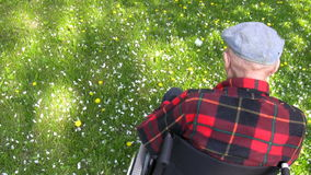 Ηληκιωμένος στην αναπηρική καρέκλα