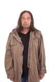 Ηληκιωμένος στο συνοφρύωμα παλτών τάφρων Στοκ φωτογραφία με δικαίωμα ελεύθερης χρήσης
