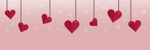 Η ημέρα βαλεντίνων ` s είναι ένωση καρδιών στην ταπετσαρία Στοκ Φωτογραφία