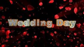 Η ημέρα γάμου, αυξήθηκε ανατίναξη καρδιών απεικόνιση αποθεμάτων