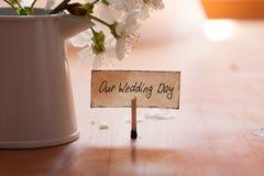 Η ημέρα γάμου μας Στοκ Φωτογραφία
