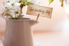 Η ημέρα γάμου μας Στοκ Εικόνες