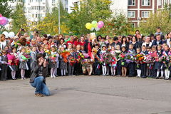 Η ημέρα γνώσης στη Ρωσία Στοκ Φωτογραφία