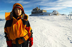 η ημέρα ορειβατών εξάντλησ&eps Στοκ φωτογραφία με δικαίωμα ελεύθερης χρήσης
