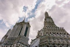 Η ημέρα στη Μπανγκόκ, Ταϊλάνδη, ναός Wat Arun Στοκ φωτογραφία με δικαίωμα ελεύθερης χρήσης