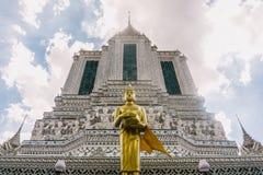 Η ημέρα στη Μπανγκόκ, Ταϊλάνδη, ναός Wat Arun Στοκ Εικόνα