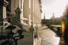 Η ημέρα στη Μπανγκόκ, Ταϊλάνδη, ναός Wat Po Στοκ Φωτογραφίες