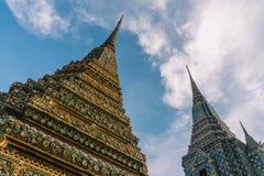 Η ημέρα στη Μπανγκόκ, Ταϊλάνδη, ναός Wat Po Στοκ Φωτογραφία