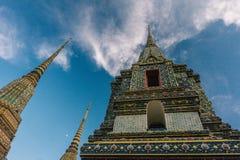 Η ημέρα στη Μπανγκόκ, Ταϊλάνδη, ναός Wat Po Στοκ Εικόνα