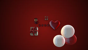 η ημέρα σύρει τον ευτυχή βαλεντίνο απεικόνισης s Στοκ Φωτογραφία