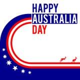 Η ημέρα της Αυστραλίας το γραφικό σχέδιο Στοκ Φωτογραφίες