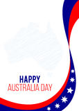 Η ημέρα της Αυστραλίας το σχέδιο αφισών Στοκ φωτογραφία με δικαίωμα ελεύθερης χρήσης