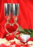 Η ημέρα του βαλεντίνου ρομαντική αυξήθηκε Στοκ Εικόνα