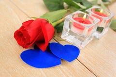 Η ημέρα του βαλεντίνου ρομαντική αυξήθηκε Στοκ εικόνα με δικαίωμα ελεύθερης χρήσης