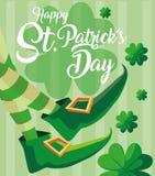 Η ημέρα του ST Πάτρικ και πληρώνει του leprechaun με τις μπότες ελεύθερη απεικόνιση δικαιώματος