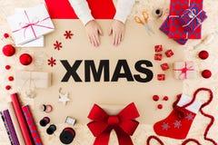 Η ημέρα των Χριστουγέννων είναι ευτυχής Στοκ φωτογραφίες με δικαίωμα ελεύθερης χρήσης