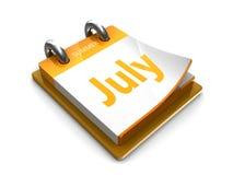 Η ημερολογιακή ημερομηνία είναι Ιούλιος ελεύθερη απεικόνιση δικαιώματος