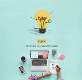 Η δημιουργική δημιουργικότητα εμπνέει την έννοια καινοτομίας ιδεών διανυσματική απεικόνιση