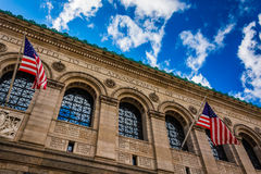 Η δημόσια βιβλιοθήκη στη Βοστώνη, Μασαχουσέτη Στοκ Εικόνες
