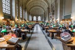 Η δημόσια βιβλιοθήκη της Βοστώνης Στοκ Εικόνες