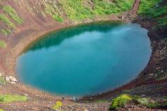 Η ηφαιστειακή λίμνη κρατήρων Kerið κάλεσε επίσης Kerid ή τη Kerith στη νότια Ισλανδία Στοκ Φωτογραφία