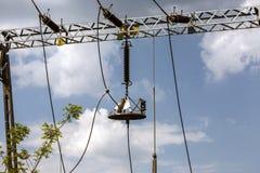 Η ηλεκτρική ενέργεια, προστασία αστραπής Στοκ φωτογραφίες με δικαίωμα ελεύθερης χρήσης