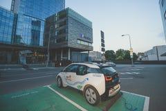 Η ηλεκτρική Bmw αυτοκινήτων i3 Στοκ Εικόνα