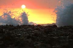 Η θάλασσα στο ηλιοβασίλεμα Στοκ Εικόνες