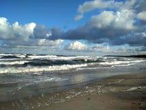 Η θάλασσα της Βαλτικής και ο αέρας στοκ εικόνα