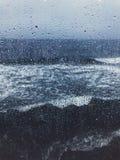 Η θάλασσα της Βαλτικής με την πτώση της βροχής Στοκ Εικόνες