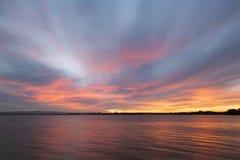 Η θάλασσα το βράδυ Στοκ εικόνα με δικαίωμα ελεύθερης χρήσης