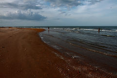 Η θάλασσα με το σύννεφο Στοκ Εικόνες
