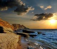 Η θάλασσα πέφτει κοιμισμένη Στοκ φωτογραφίες με δικαίωμα ελεύθερης χρήσης